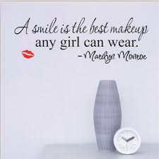 Home Decor Quote Aliexpress Com Buy Smile Makeup Marilyn Monroe Quote Vinyl Wall