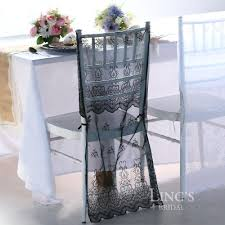 Chiavari Chair Covers 2017 Sheer Organza Chair Cover With Embroidery Wedding Party