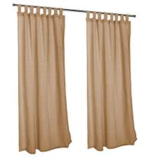 Sunbrella Outdoor Curtain Panels by Linen Sesame Sunbrella Outdoor Curtains With Tabs