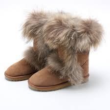 womens ugg boots fox fur s ugg boots with fox fur trim size 6 ebth