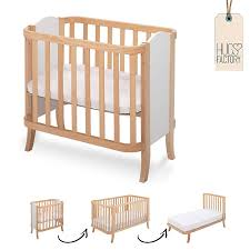 wooden baby bed crib cradle manhattan by hugs factory