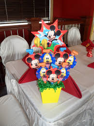 mickey mouse center pieces mickey mouse party party decorations by teresa