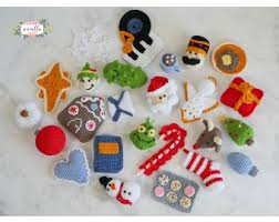 sewrella u0027s 25 days of christmas ornaments cal kit lion brand yarn