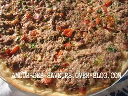 cuisine libanaise recette lahm bi ajin pizza libanaise a la viande pimentée cuisine et
