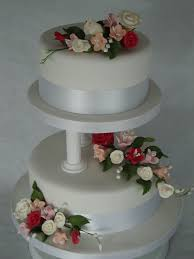 cake pillars 2 tier pillars cake wedding cakes cakeology