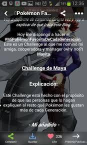 Challenge De Que Trata O Favorito De Cada O Pokémon En Español Amino
