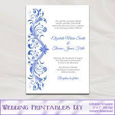 royal blue wedding invitations royal blue wedding invitations template diy printable bridal