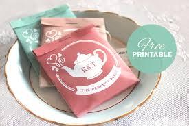 tea bag wedding favors free printable tea package wedding favors south australian weddings