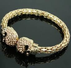 bangle bracelet with crystal images Cool men bangle bracelet flexible crystal skull bangle men women jpg