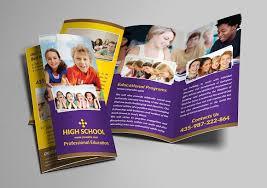 tri fold school brochure template school trifold brochure brochure templates creative market
