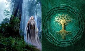 celtic tree of portal to invisible and source of