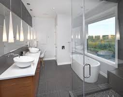 Modern Ensuite Bathrooms G9 Led Bathroom Contemporary With Above Counter Sink Baseboard