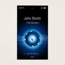 Flat Design Business Card Modern Hi Tech Iphone Ios Flat Design Business Card Zazzle Com