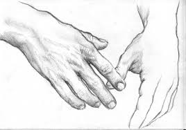 pencil sketches of hands holding elderly hand pencil sketch