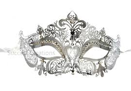 masquerade masks for women luxury metal laser cut womens masquerade mask