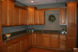 lofty design maple kitchen cabinets and blue wall color best 10