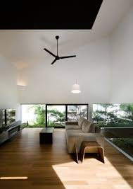 exciting apartment interior design ideas with modern asian sliding sloping roof terrace at maximum garden house in singapore home second floor living space design inspiration