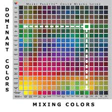 oil color mixing chart by magic palette http www artsupplies co