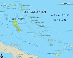 Map Showing Equator Physical Map Of Bahamas Ezilon Maps