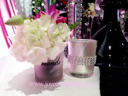 small candle holder fresh flower centerpieces joyce wedding