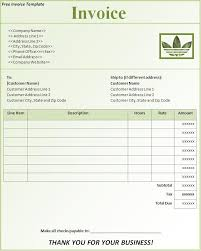 sample invoice template free best business word