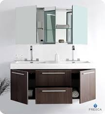 Dark Vanity Bathroom 54 U201d Fresca Opulento Fvn8013go Gray Oak Modern Double Sink