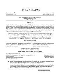sample military resume resume for study