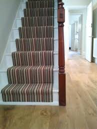 Hallway Stairs Decorating Ideas by Floor Striped Carpet Runners For Stairs Design Ideas With Wooden