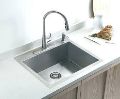 brushed nickel faucet with stainless steel sink menards faucets kitchen michaelresin site