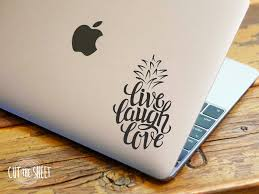 pineapple sticker live laugh love laptop decal laptop pineapple sticker live laugh love laptop decal by cutthesheet