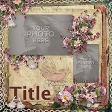 vintage scrapbook album digital scrapbooking kits vintage baby girl album 12x12 carena