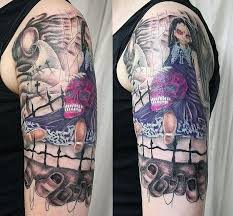 100 cemetery tattoos cemetery scene tattoos pictures to pin