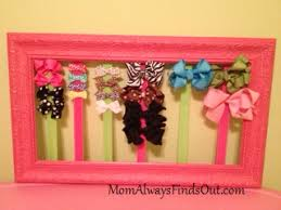 hair bow holder diy hair bow holder tutorial that used to be a picture frame