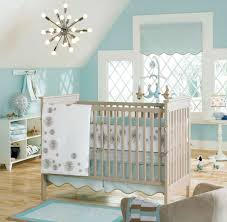 White And Sky Blue Bedroom Baby Nursery Cute Baby Room Decorations Interior Nursery Wall