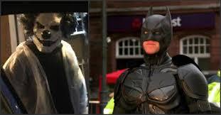 real life batman protecting children from crazy clown craze