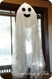 cute and easy cheesecloth hanging ghosts