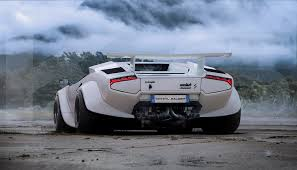 Lamborghini Aventador Tail Lights - fat bottomed lamborghini countach with huracan taillights render