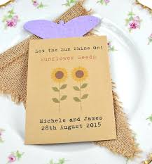 sunflower seed wedding favors let the sun shine wedding favour seed packet