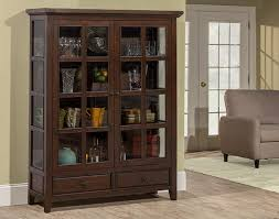 Mahogany Display Cabinets With Glass Doors by Tuscan Retreat Display Cabinet 2 Doors 2 Drawers With Clear Glass