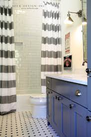 Charcoal Shower Curtain Charcoal Gray Bathroom With White And Gray Striped Shower Tiles