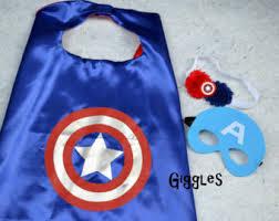 Captain America Halloween Costume Kids Captain America Cape Etsy