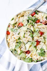pasta salad healthy bow tie pasta salad with feta and avocado oh so delicioso