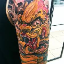 japanese dragon color tattoo piece by isaacectattoo on deviantart