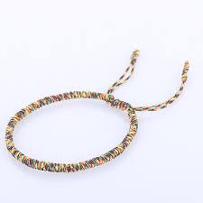 red rope bracelet images Handmade knots lucky rope bracelet men tibetan buddhist love lucky jpg