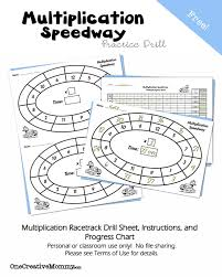 multiplication speedway math drill onecreativemommy com