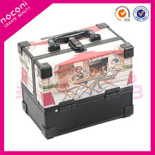 bridal makeup box noconi square colorful design cosmetic make up