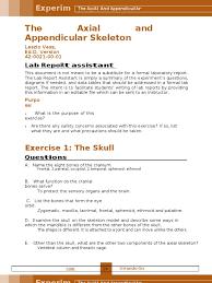 Appendicular Skeleton Worksheet Lab 7 The Axial And Appendicular Skeleton Vertebral Column Skull