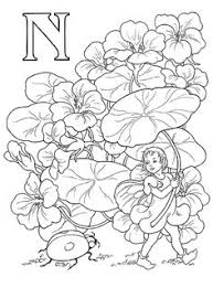 download print letter zinnia flower fairy coloring