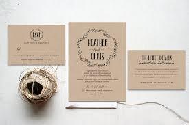 kraft paper wedding invitations wedding invitation set rustic wedding invitation set wedding set