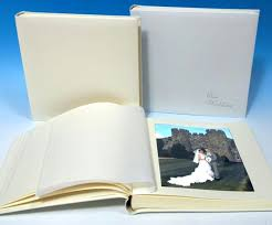 photo album with sticky pages large leather wedding album in ivory white